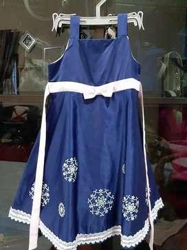 baju gaun anak kembar