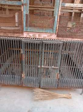 Birds Wood And Metal Cage (Good Quality)