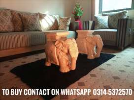Elephants as sofa tables or lawn chair (home delivery available Daraz)