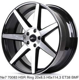 Harga velg NE7 70083 HSR R20X85 H5X114,3 ET38 BMF