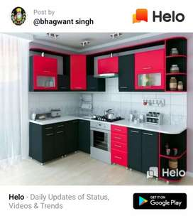 Moldern kitchen 1500 rupees  square feet with matial