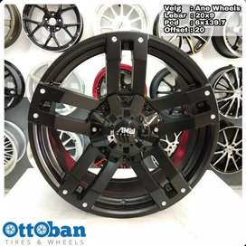 Velg Mobil Fortuner Pajero Everest murah AMW Wheels R20X9 hole 6x139.7