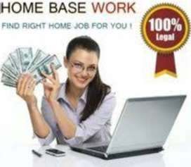 Online Home based genuine work daily salary.Home base job work at home