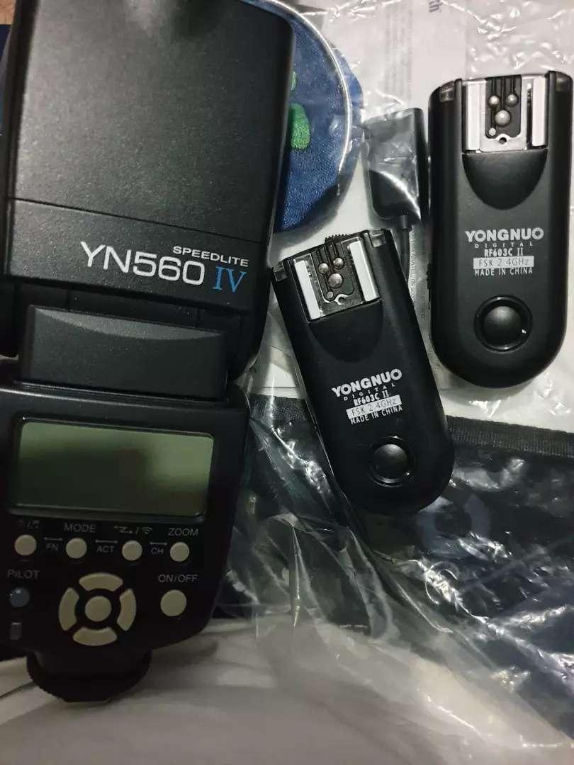 Flash yong nuo + trigger + tripod 0