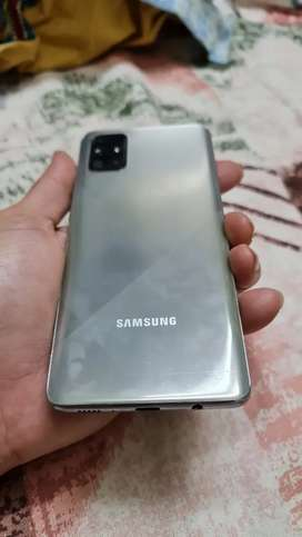 Samsung A71 Haze Crush Silver