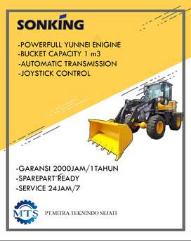 Wheel Loader Murah 0,8 & 1,1 Kubik Merek SONKING Yunnei Engine Turbo