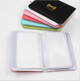 Dompet kartu mini warna warni ribbon import korea