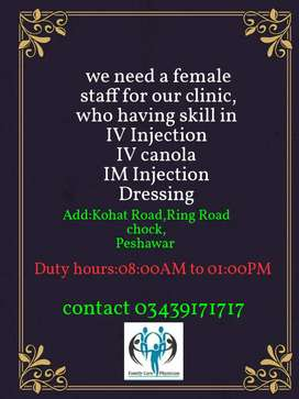 We need a LHV, female Nurse for female patients, ,