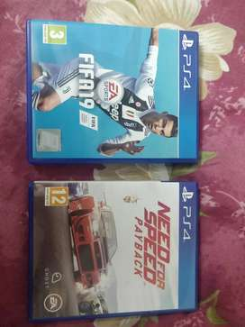 FIFA 19 PS4 & NEED FOR SPEED PAYBACK PS4