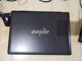 Laptop Axioo Neon MNC.dual core ram 2gb hdd 160gb.14 inch