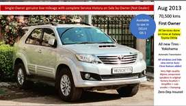 Toyota Fortuner 2013 70500 Km First owner