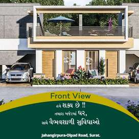 Best project for 2BHK Row House at Jahangirpura Olpad Road.