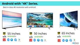 """Cornea 65"""" Android 4K LED TV with a warranty of 1 year"""