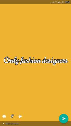 We are looking for fashion designer