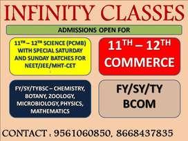 INFINITY CLASSES KALYAN REQUIRES FACULTIES