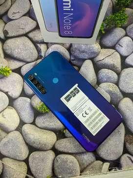 Xiaomi note 8 ram 6/128GB lengkap dan mulus bergaransi