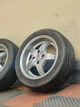 Plati 14 inch; Alloys with Maxxis tyres