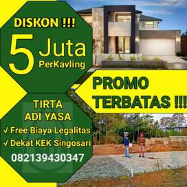 Promo Super Murah Cash Back Tanah Kavling Kawasan Destinasi wisata C5