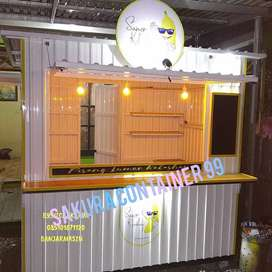 Booth container, booth makanan, booth pisang lumer, booth dagang