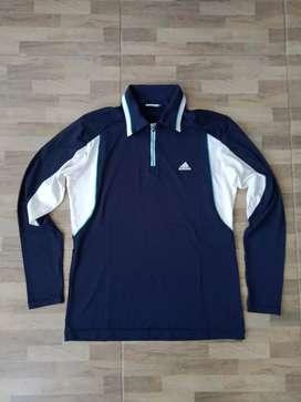 Adidas golf half Zipper long sleeve polo shirt