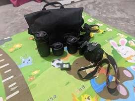 Canon EOS mark 200d ii with 3 LENSES