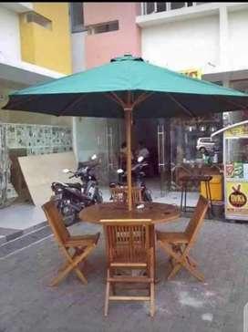 Meja teras,meja pantai,meja payung jati,meja outdoor,meja kafe
