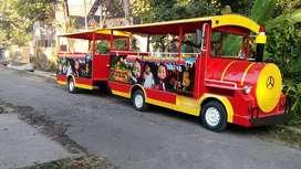 kereta wisata Double gerbong odong 2 Desain bebas reques ADD