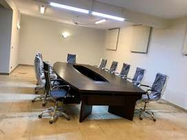 Excellent Condition Conference Table snd leather chairs for sale