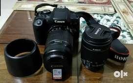 Canon dslr 2lenses full kit latest model updated version