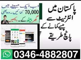 Online work and advertisement home based jobs.
