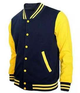 Jaket baseball kuning hitam