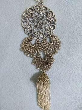 Oxidised Long chain unique Neckpiece