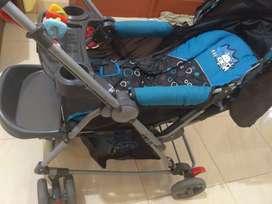 Stroller pliko biru