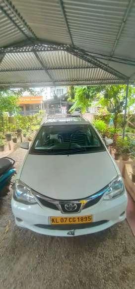 Toyota Etios 2016 single owner taxi permit car for sale.