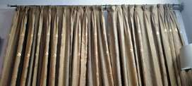 Golden embroidered curtains available