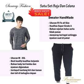 AM00232 Celana Setelan Satu set Sweater dan celana jogger
