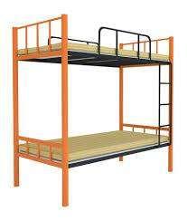 Hard metal bunk bed