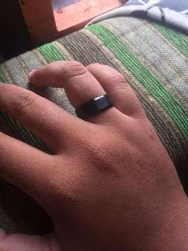 Di jual cincin titanium hitam baru no 9