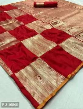 New look art silk Bebarasi saree