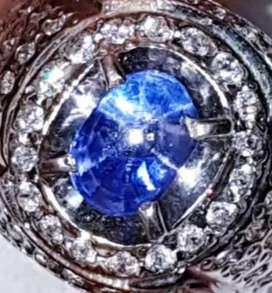 Royal blue sapphire Star 3crt up body glass ( sapir safir saphire )
