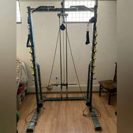 Squat Rack with cable cross and gym equipments