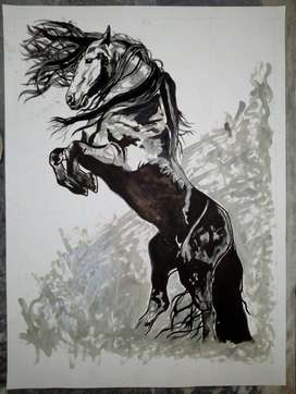 horse paintings for interior decoration