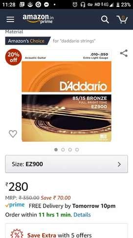 Guitar strings - Daddario