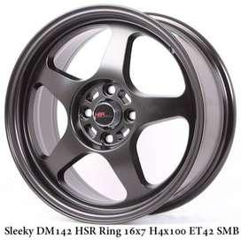 velg model sleexy hsrwheel ring 16 hello 8x100/114,3 buat agya
