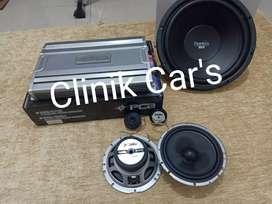 Paket audio speaker 2way trans, power pca 4ch, subwoofer peerless**