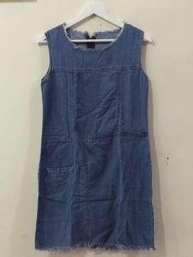 Dress u can see bahan soft jeans