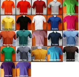 Kaos Polo Shirt Bahan Tebal - Kaos Kerah Bisa Bordir Seragam, MURAH!