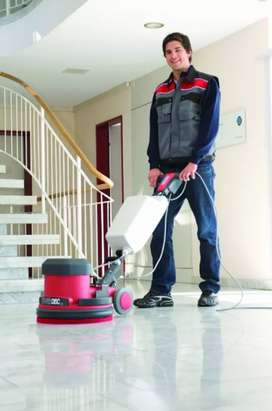 Tale and marble floor cleaning machine