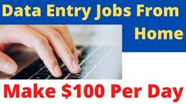 Home based typing work,part time job,Data entry works  Online data
