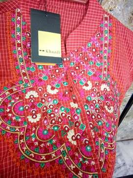 khaadi embroidered top